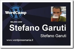 Il Badge del WordCamp 2009