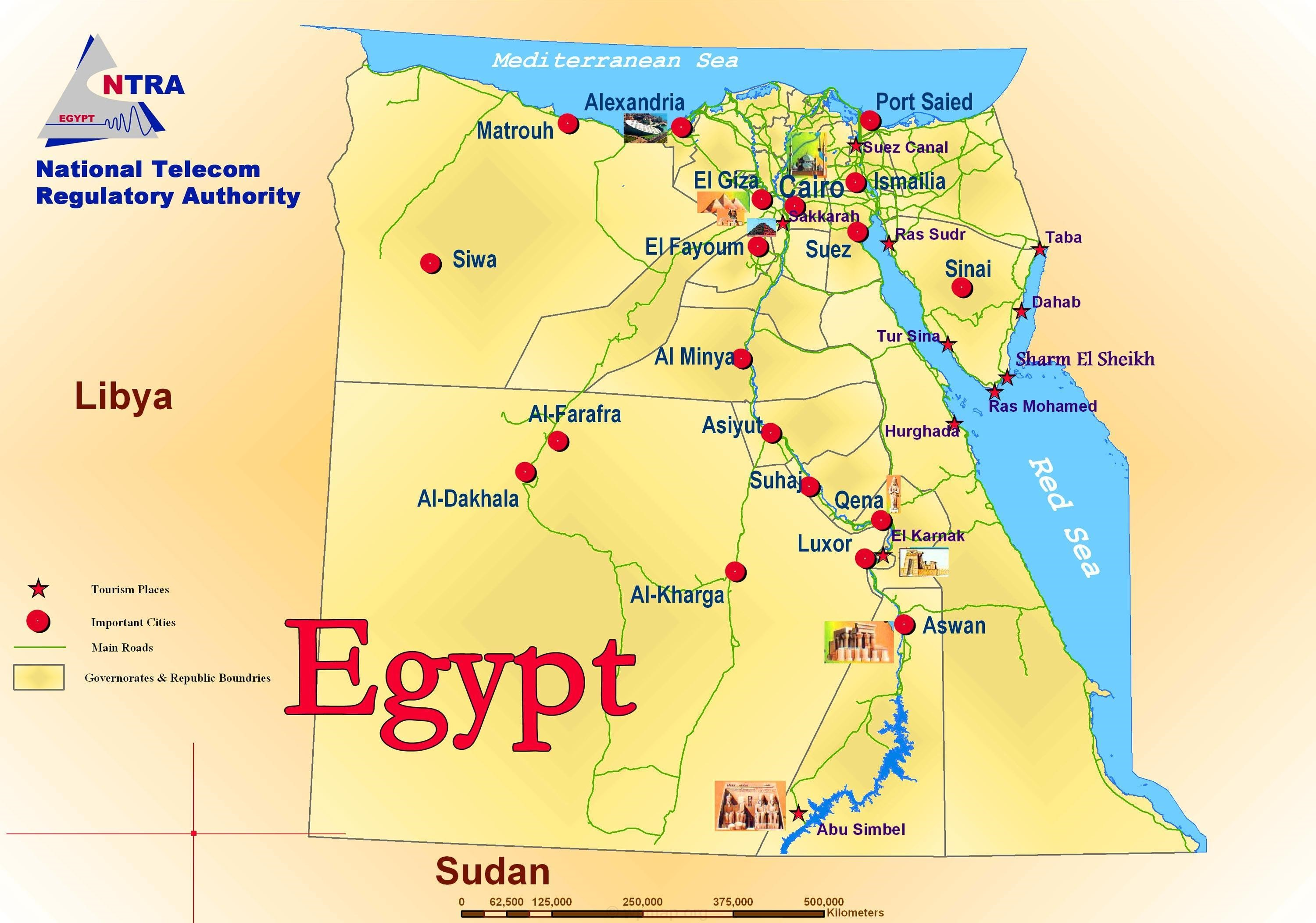 Egypt Political And Tourist Map