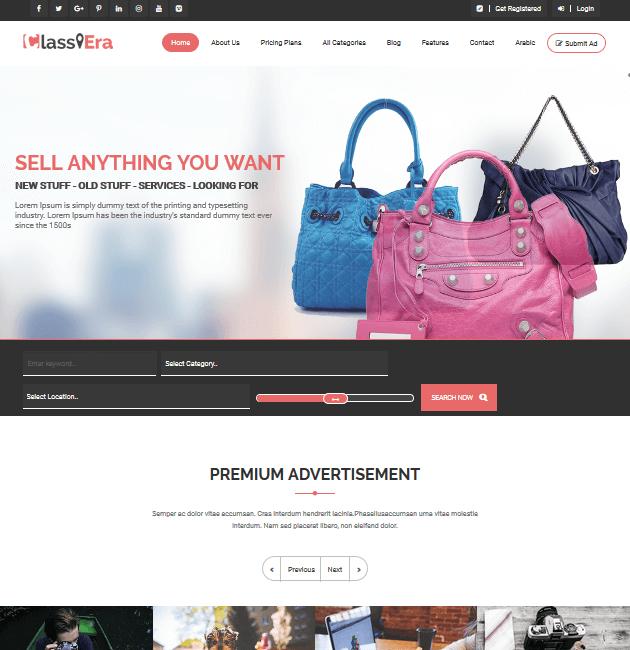 Classiera- Ad-Space WordPress Themes