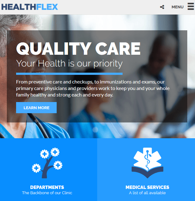 HEALTHFLEX - WordPress Doctor Themes