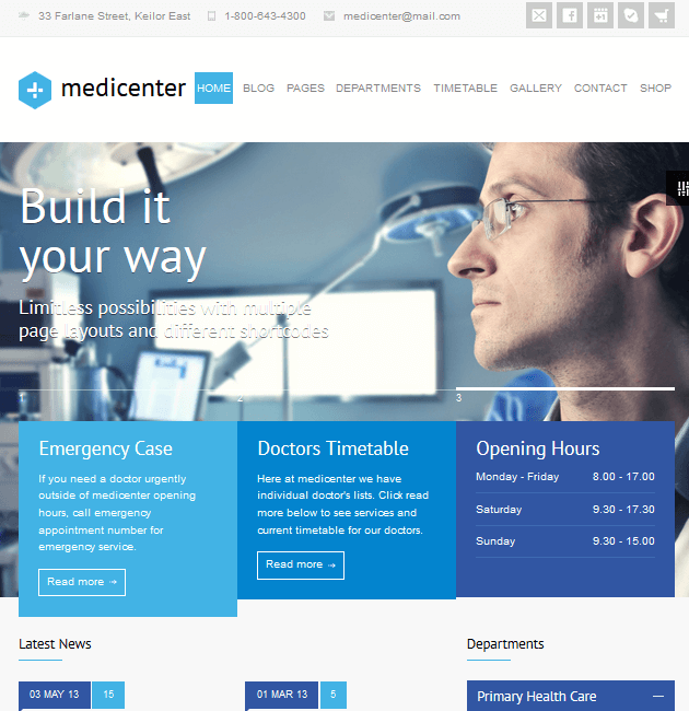 MediCenter - WordPress Doctor Themes