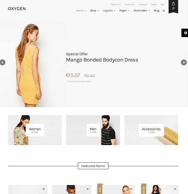 Oxygen - eCommerce WordPress Themes