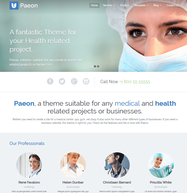 Paeon - WordPress Doctor Themes
