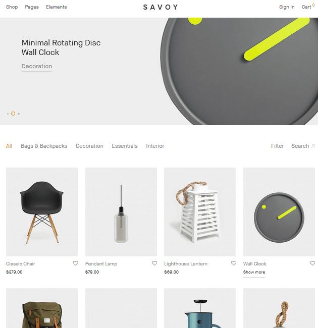 Savoy - eCommerce WordPress Themes