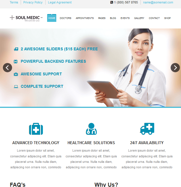 SoulMedic Health - WordPress Doctor Themes