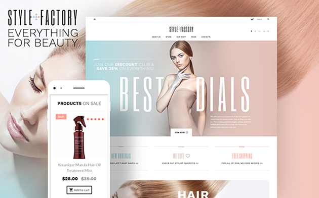 Hair Salon WooCommerce Theme