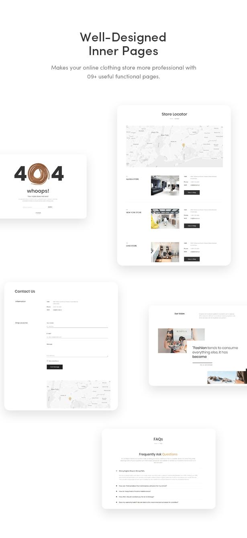 09+ Great Functional Pages - Zoli - Minimal & Modern Fashion WooCommerce WordPress Theme