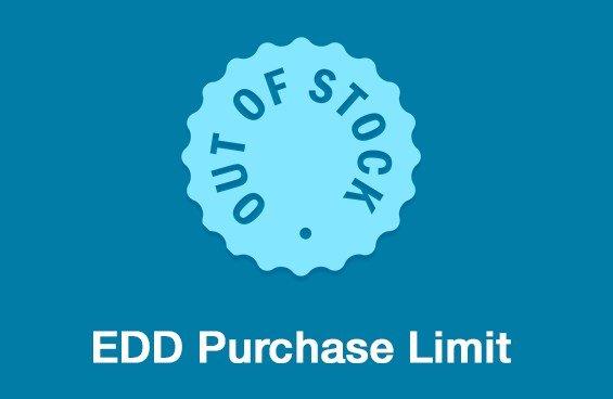 Easy Digital Downloads Purchase Limit Addon