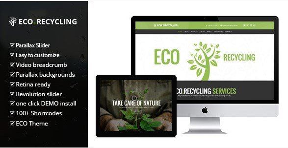 Eco Recycling - A Multipurpose Nature & Ecology WordPress Theme