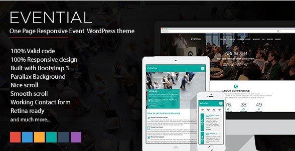 Evential - One Page Responsive Event WordPress Theme