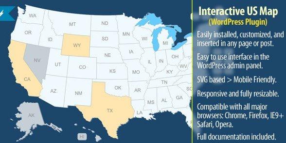 Interactive US Map - WordPress Plugin