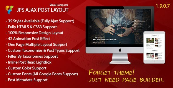 JPS Ajax Post Layout - Addon For Visual Composer