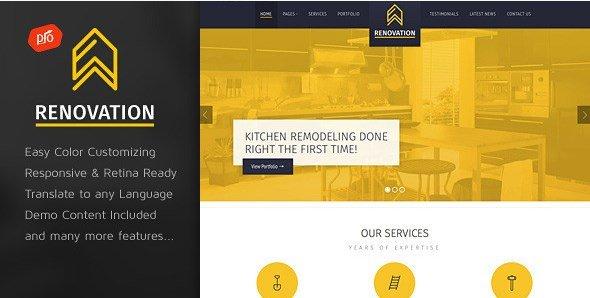 Renovation - Construction Company Theme
