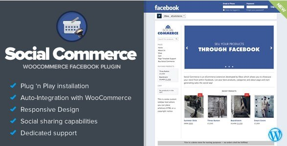 Social Commerce - WooCommerce Facebook Tab
