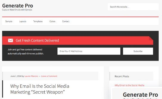 StudioPress Generate Pro Theme