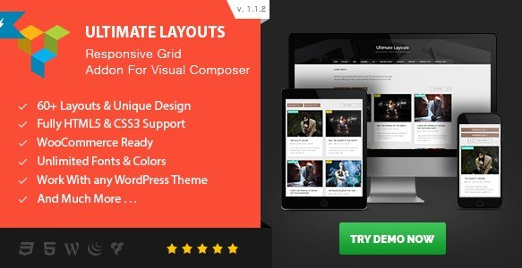 Ultimate Layouts Responsive Grid - Addon For Visual Composer