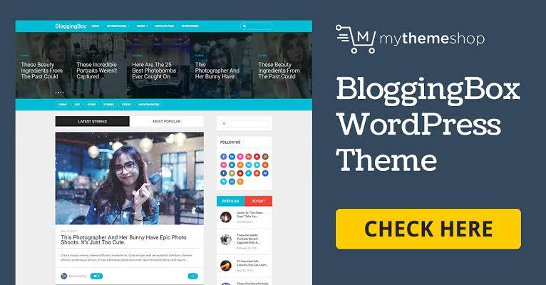 MyThemeShop BloggingBox WordPress Theme