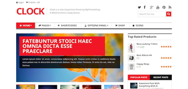 MyThemeShop Clock WordPress Theme