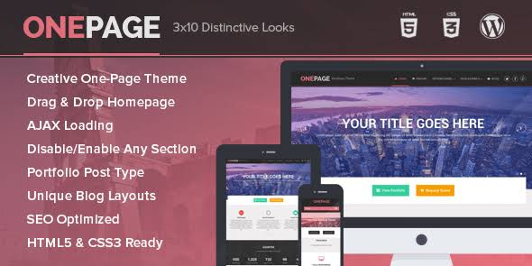 MyThemeShop OnePage WordPress Theme