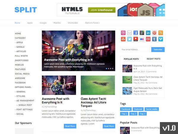 MyThemeShop Split WordPress Theme