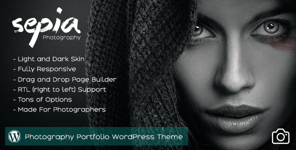 Sepia - Photography Portfolio WordPress Theme