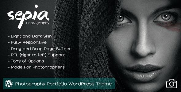 Sepia - Photography Portfolio WordPress Theme
