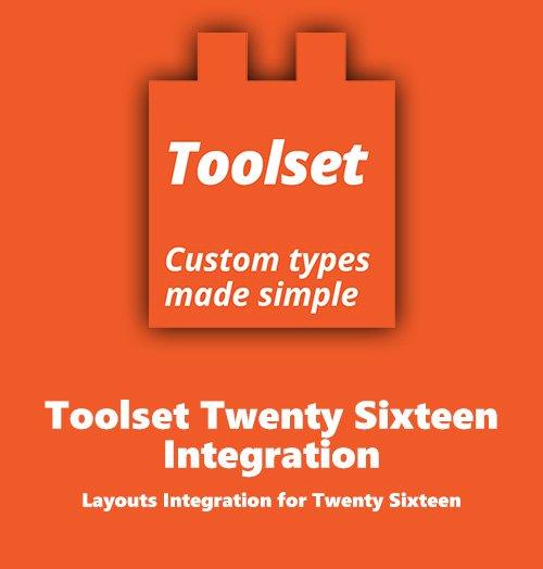 Toolset Twenty Sixteen Integration