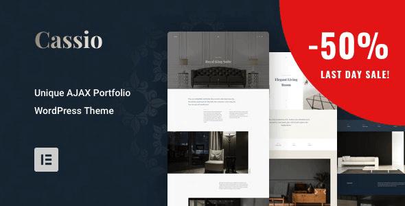 Cassio - AJAX Portfolio WordPress Theme