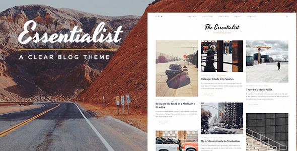 Essentialist - A Narrative WordPress Blog Theme