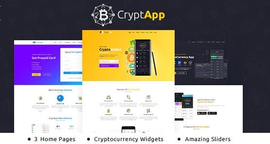 CryptApp - Landing Page Theme