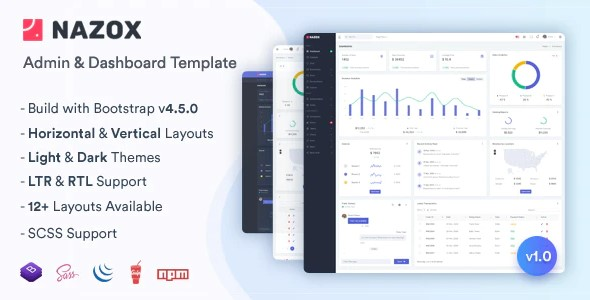 Nazox - Admin - Dashboard Template