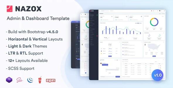 Nazox - Admin - Dashboard Template Free Download
