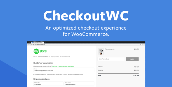 CheckoutWC - Optimized Checkout Pages for WooCommerce Download