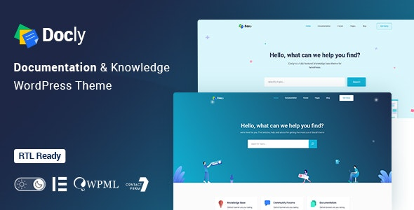 Docly - Documentation And Knowledge Base WP Theme with bbPress Helpdesk Forum