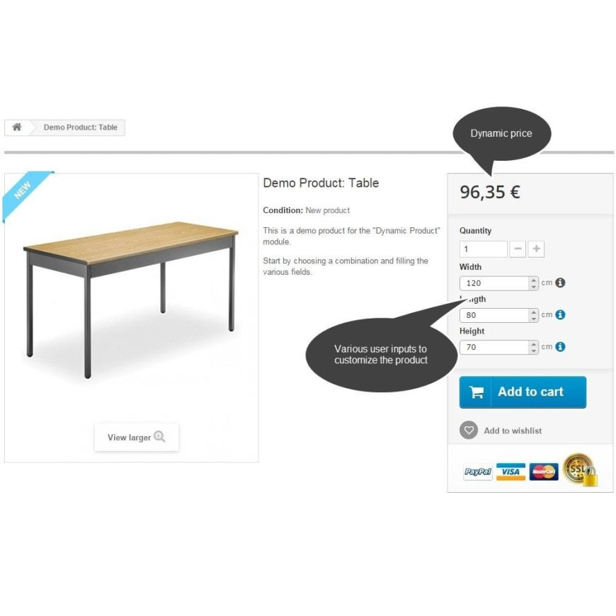 Dynamic Product Price module