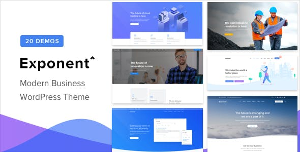 Exponent - Modern Multi - Purpose Business WordPress theme