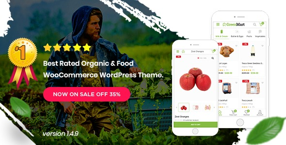 Greenmart Organic Food Woocommerce WordPress Theme