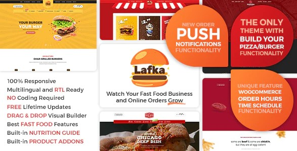 Lafka - WooCommerce Theme for Burger - Pizza Delivery