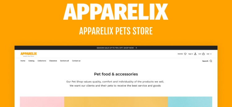 TM Apparelix Pets Online Store Template Shopify Theme