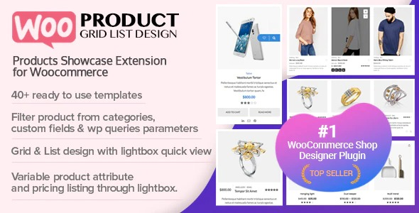 WOO Product GridList Design- Responsive Products Showcase Extension for Woocommerce