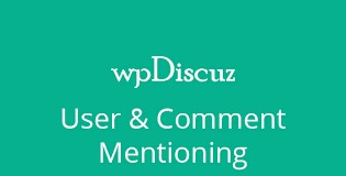 WpDiscuz User - Comment Mentioning Free