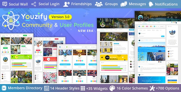 Youzify (formerly Youzer) + Addons - Buddypress Community - WordPress User Profile Plugin