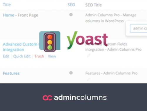 Admin Columns Pro - Yoast SEO