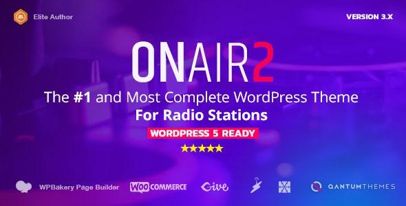 Onair: Radio Station WordPress Theme With Non-Stop Music Player
