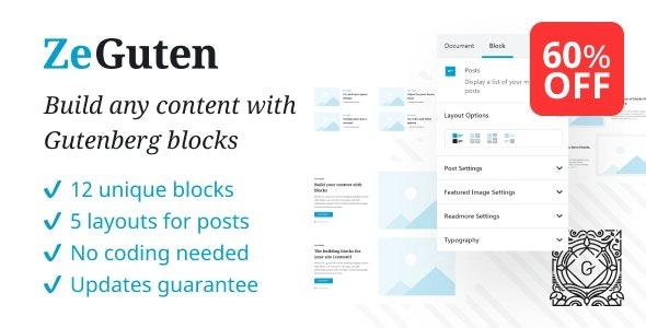 ZeGuten Blocks for Gutenberg