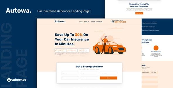 Autowa - Car Insurance Unbounce Landing Page