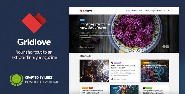 Gridlove - Creative Grid Style News - Magazine WordPress Theme
