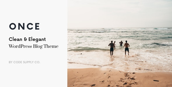 Once - Clean - Elegant WP Blog Theme