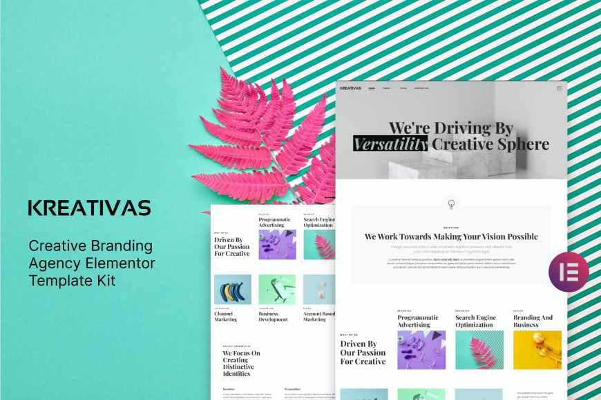 Kreativas - Creative Branding Agency Elementor Template Kit