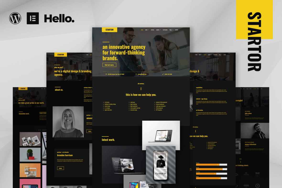 STARTOR - Agency - Company Elementor Template Kit